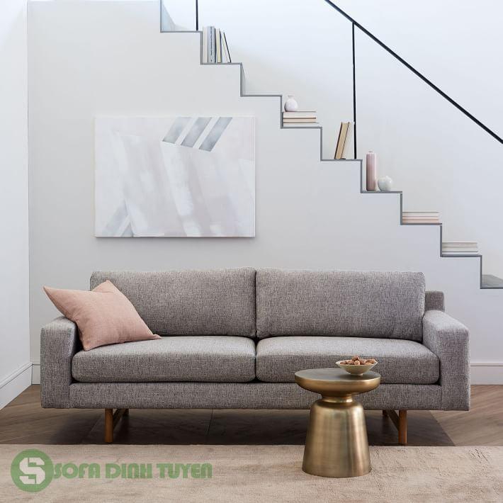 sofa bọc vải màu xám đẹp