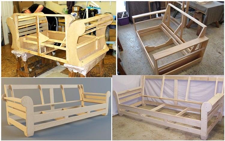 ghế sofa sử dụng khung gỗ