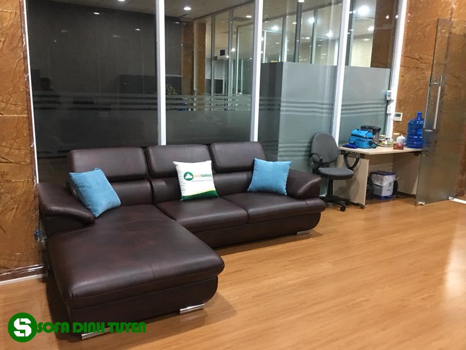ghế sofa góc chân inox