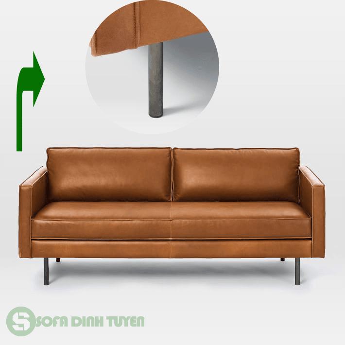 ghế sofa chân inox chắc chắn