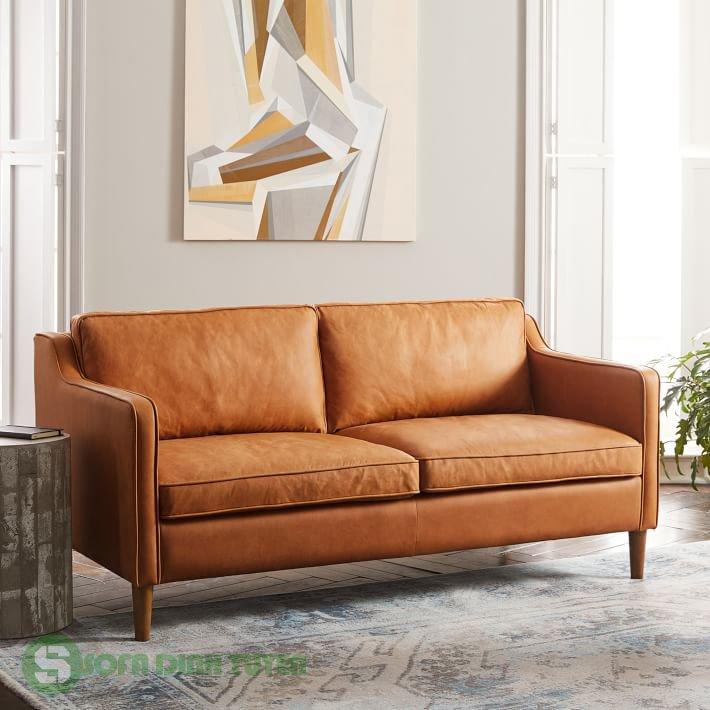 ghế sofa bọc da dài 1m7