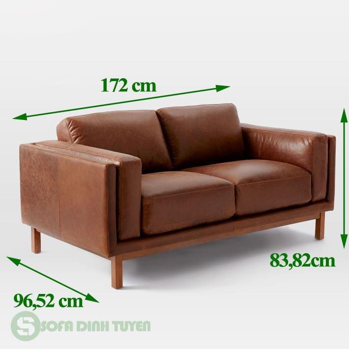 ghế sofa bọc da dài 1m7 1m8