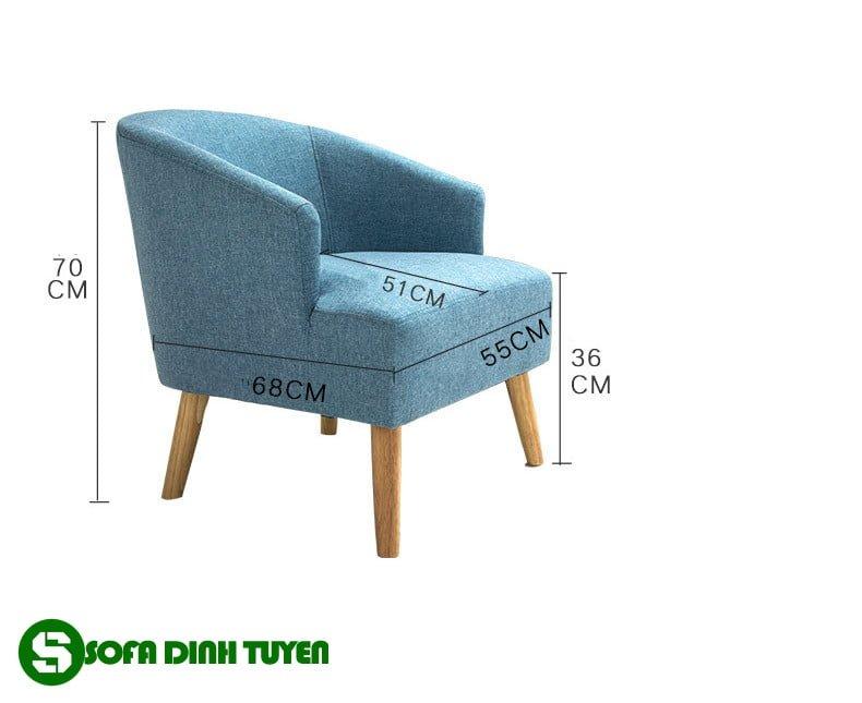 Kích thước ghế sofa đơn nhỏ nhắn cho phòng khách