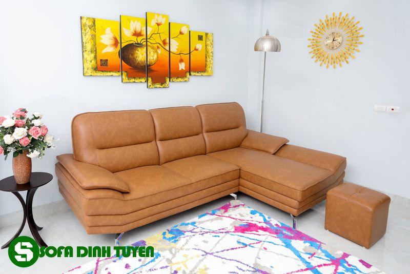 Ghế sofa góc sử dụng da công nghiệp đẹp và sang trọng.