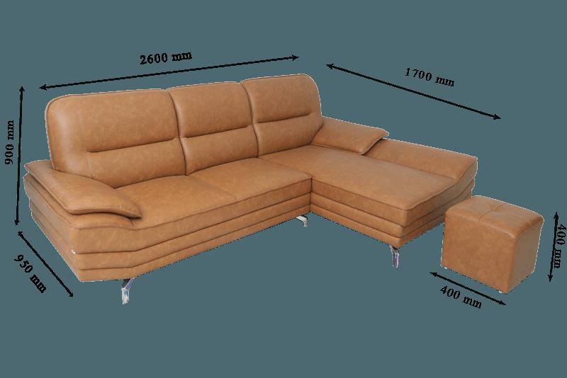 Kích thước ghế sofa tiêu chuẩn phù hợp với nhiều không gian hơn.