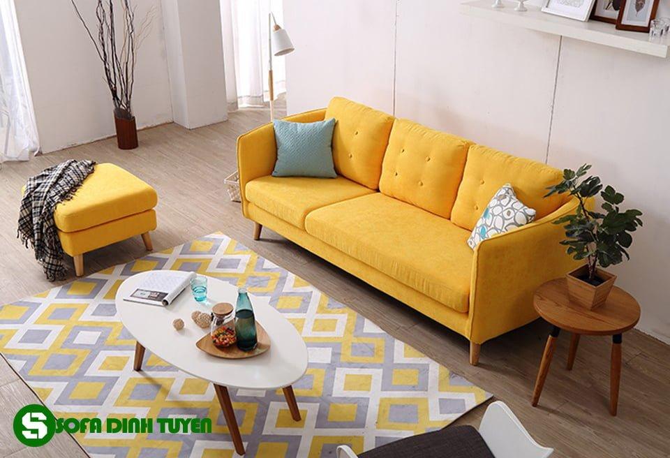 ghế sofa văng màu cam đẹp sang trọng