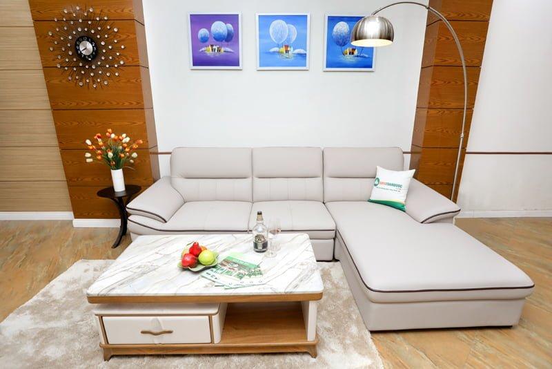 Ghế sofa góc da sử dụng da công nghiệp loại tốt nhất tới từ Indonesia