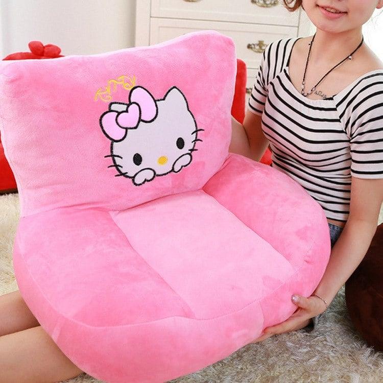 ghế sofa kitty dạng mini màu hồng