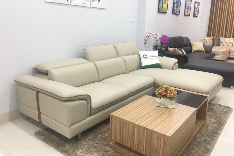 ghế sofa góc chân gỗ