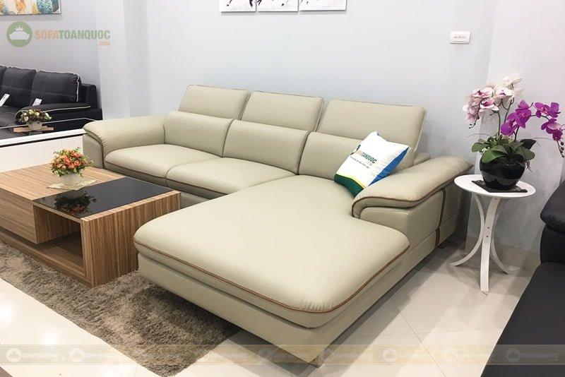 Ghế sofa chất liệu da giả bền vững và có tính thẩm mỹ cực cao.