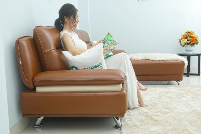 ghế sofa nâu cafe đẹp