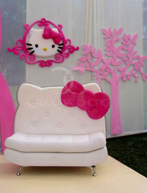 ghế sofa hello kitty chân inox