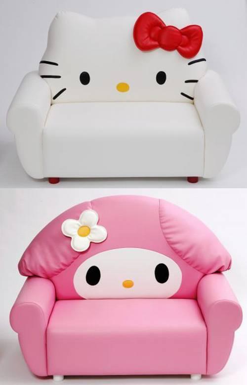 ghế sofa đơn kiểu dáng mèo Hello Kitty