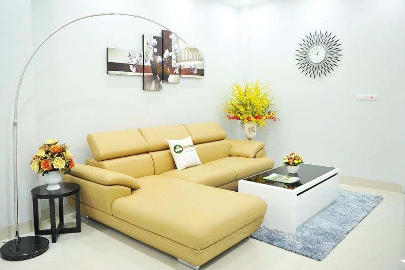 ghế sofa chân inox dạng tròn