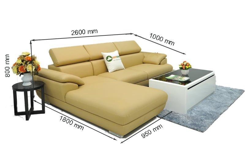 Kích thước ghế sofa vừa phải phù hợp với không gian chung cư hiện nay.