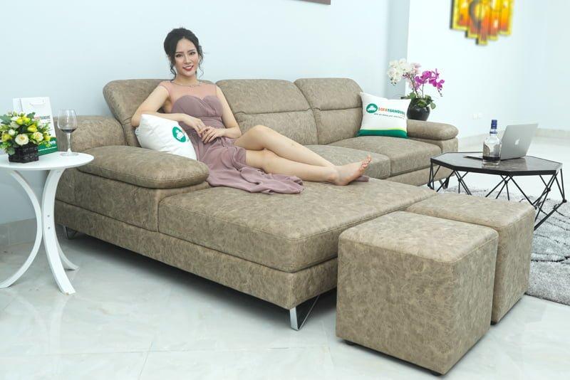 sofa góc da công nghiệp