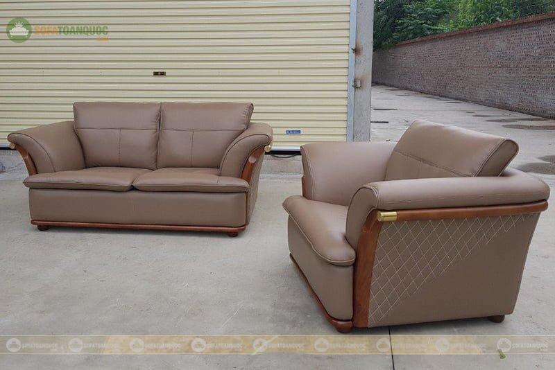 ghế sofa da microfiber có khung gỗ