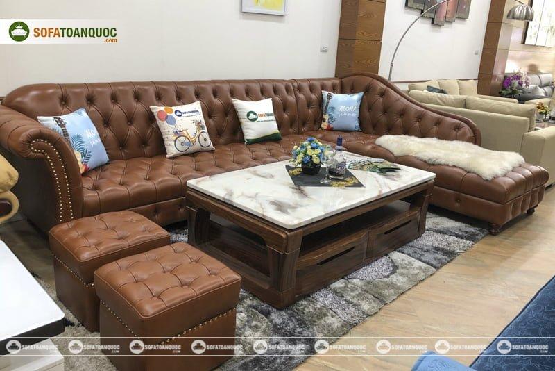 ghế sofa da thật nhập khẩu