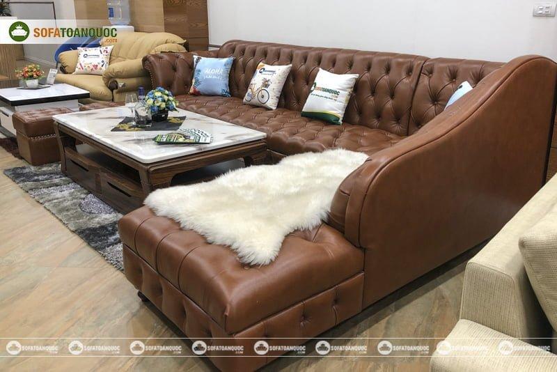ghế sofa da nhập khẩu anh