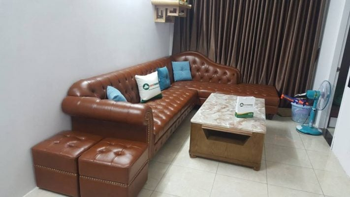Kiểu sofa tân cổ điển dạng góc phù hợp với mọi không gian.