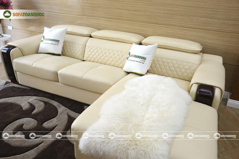 Kiểu dáng sofa góc phải đẹp phù hợp với không gian sang trọng, đẳng cấp.