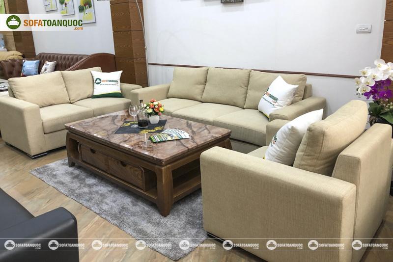 sofa vải nỉ cho phòng giám đốc