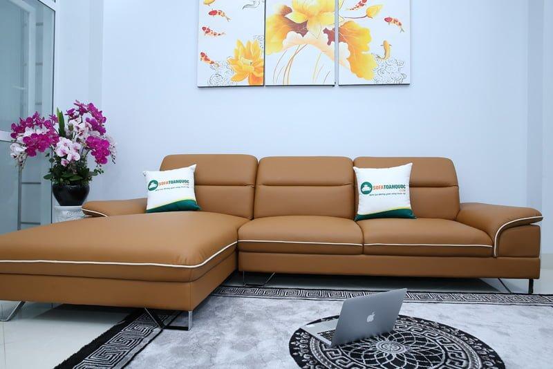 bộ ghế sofa màu vàng bò đẹp