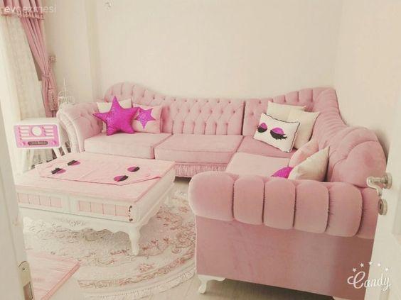 ghế sofa màu hồng nhạt đẹp và tinh tế