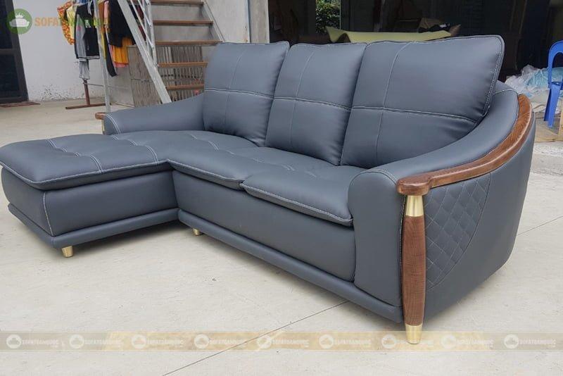 sofa góc cao cấp khung viền gỗ