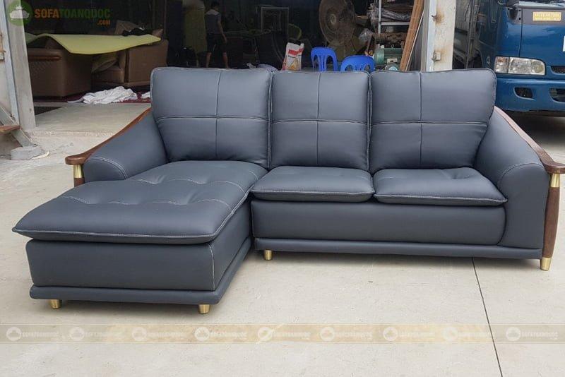 ghế sofa cao cấp khung viền gỗ