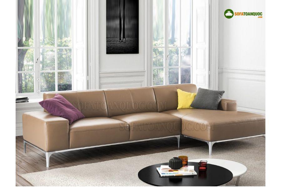ghế sofa góc da thật nhập khẩu nước ngoài.