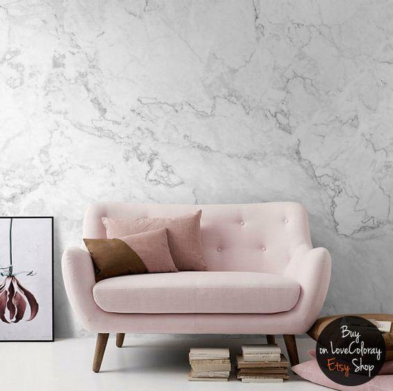 ghế sofa văng nhỏ màu hồng đẹp