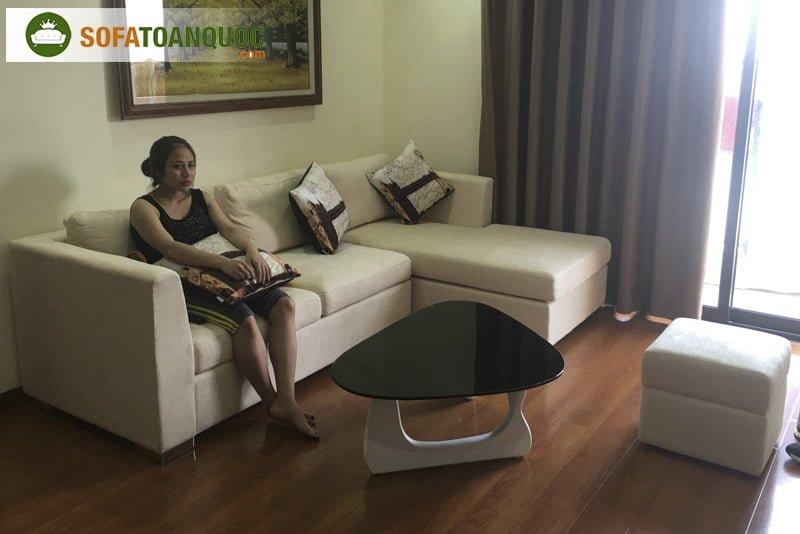 sofa chung cư bọc vải đẹp
