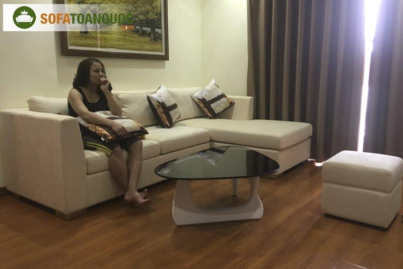 mẫu ghế sofa góc nhỏ cho chung cư đẹp