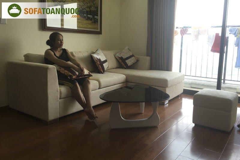 ghế sofa chung cư kèm đôn sofa