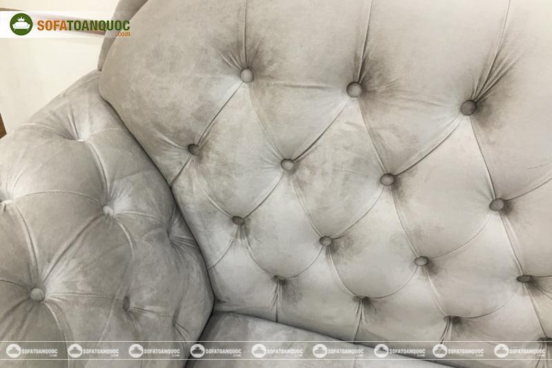 mẫu ghế sofa bọc vải nhung mềm mại