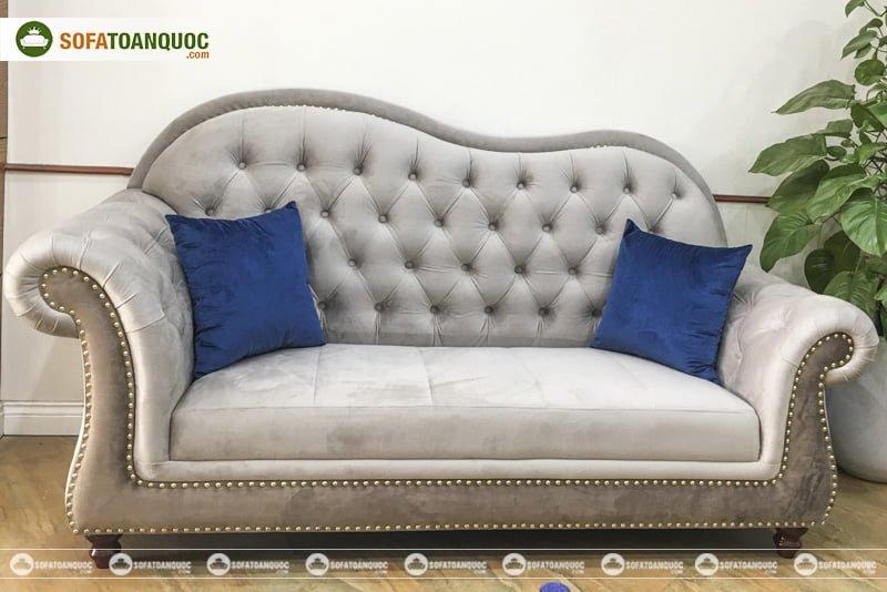 ghế sofa bọc vải cho không gia nhỏ