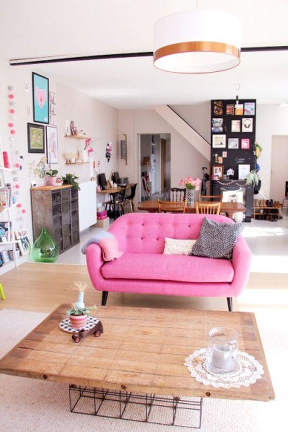 ghế sofa văng màu hồng cánh sen