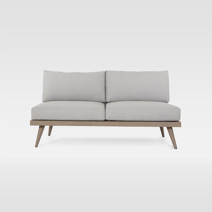 ghế sofa gỗ không tay vịn 2 chỗ