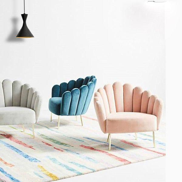 Ghế sofa đơn hình vỏ sò lạ mắt. Sử dụng cho phòng khách hoặc quán cafe hiệu quả.