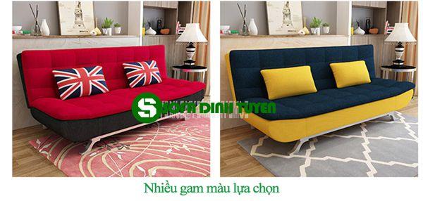 Sofa bed chọn chất liệu vải bọc nên rất nhiều màu sắc cho khách hàng lựa chọn.