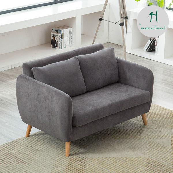sofa màu xám nhỏ gọn