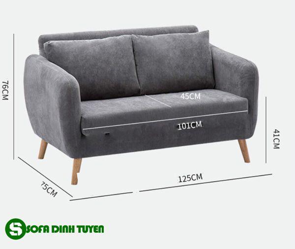 Kích thước ghế sofa cỡ nhỏ được nhiều người yêu thích sử dụng.