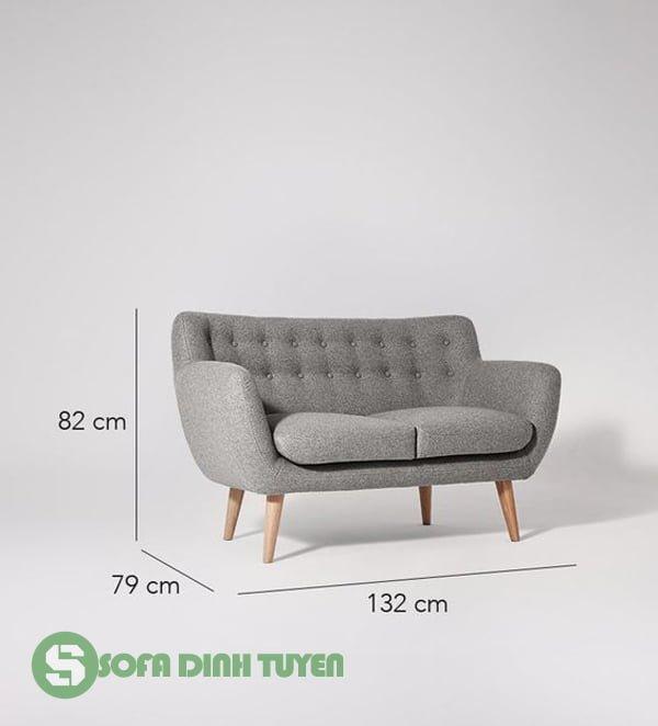 kích thước sofa văng dài 2 chỗ nhỏ