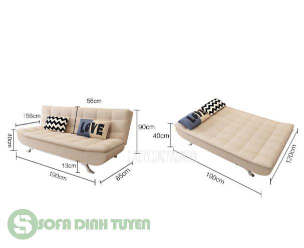 sofa cho nhà nhỏ dạng sofa giường