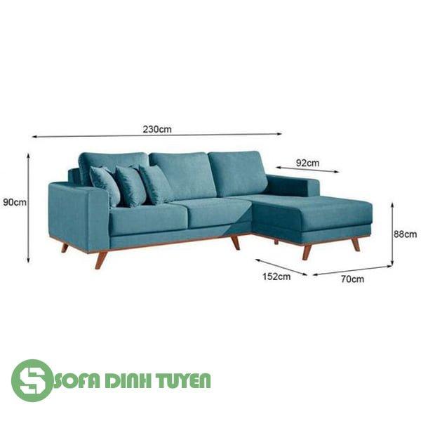 kích thước sofa góc chữ L loại nhỏ