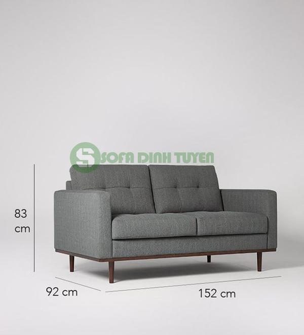 kích thước sofa văng dài 2 chỗ loại nhỏ