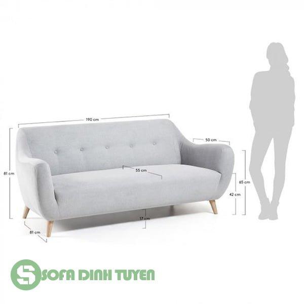kích thước sofa văng dài tiêu chuẩn