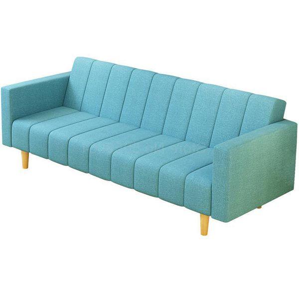Ghế sofa văng dạng giường đẹp tinh tế nhờ chất liệu vải nỉ đẹp.