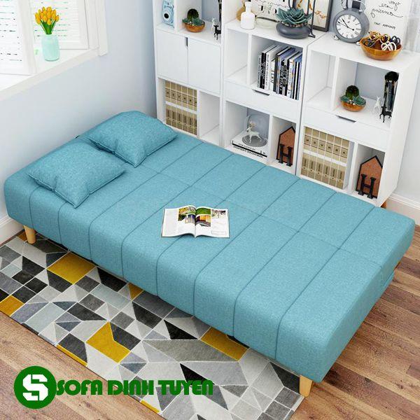 Chân ghế gỗ đảm bảo tính thẩm mỹ. Nhanh chóng biến thành chiếc giường êm ái khi sử dụng.